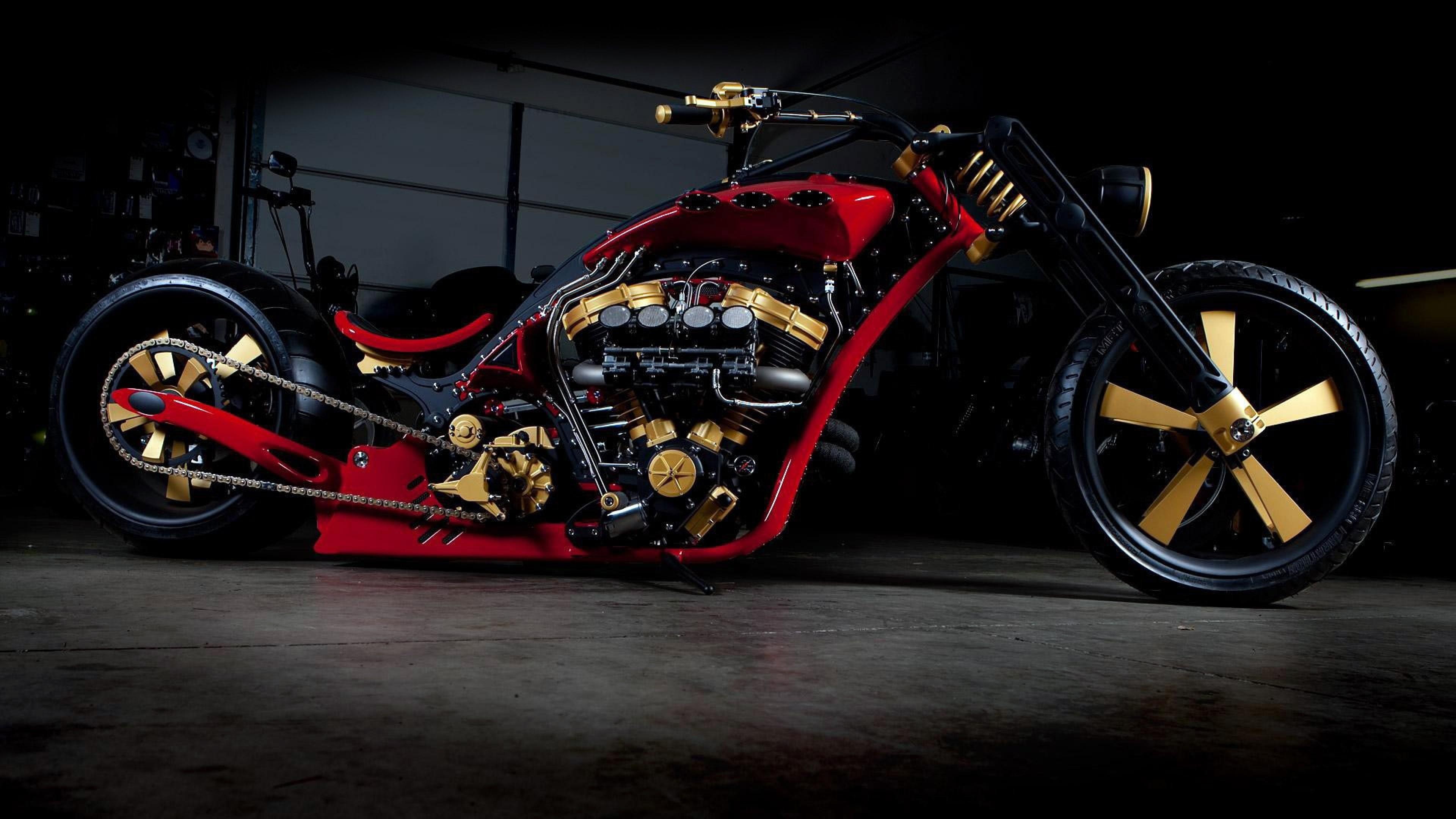 Preview wallpaper bike, chopper, stylish 3840×2160