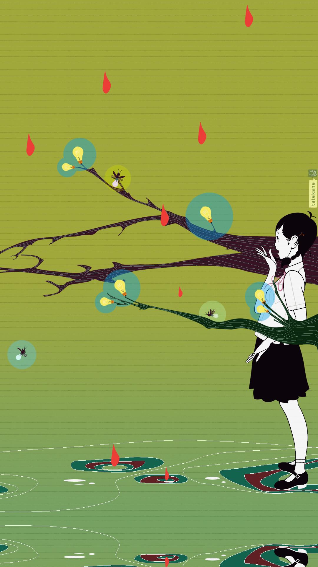 Mobile Wallpaper of Art by Yusuke Nakamura [x-post from /r/wallpapers] …