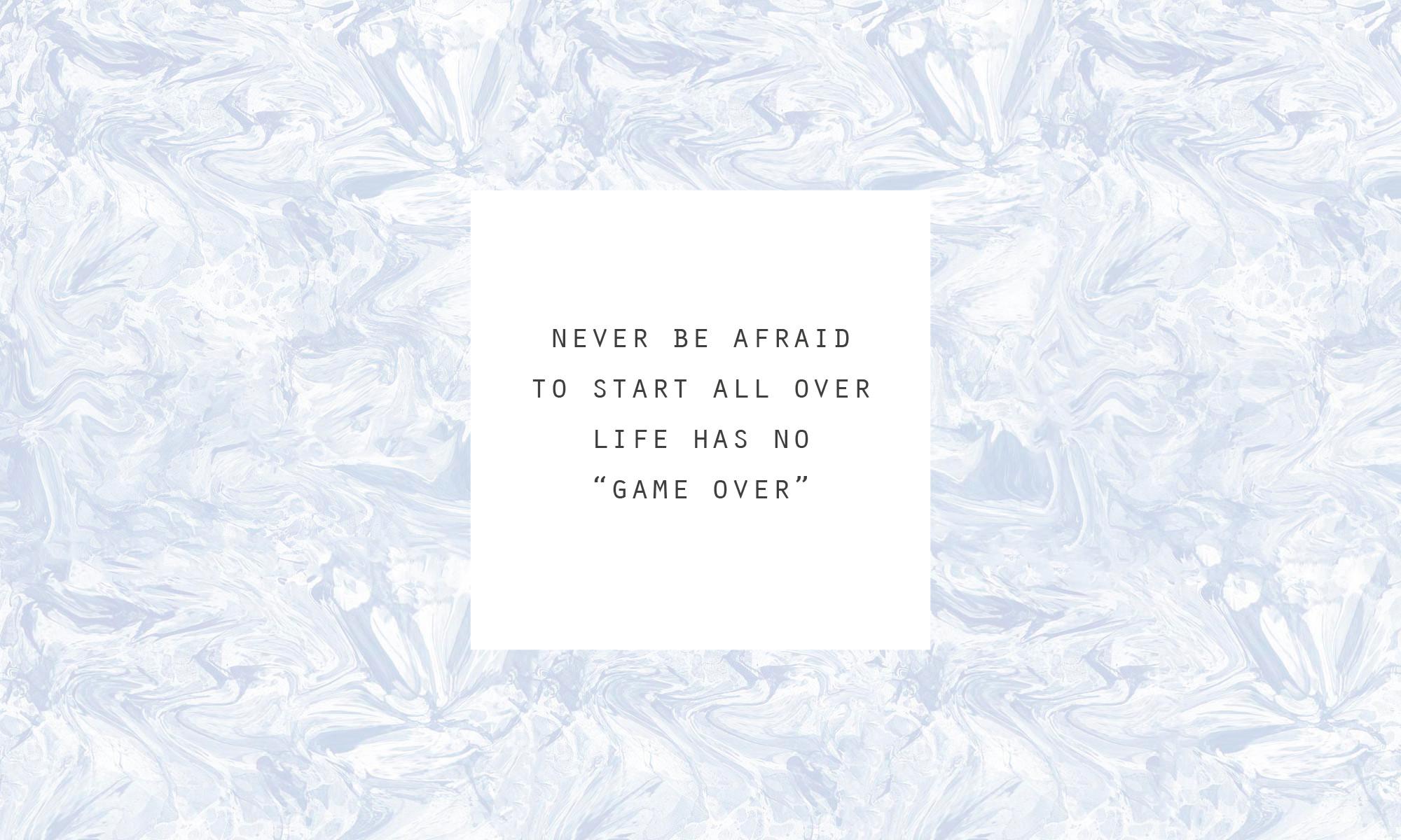 Never Be Afraid   Desktop
