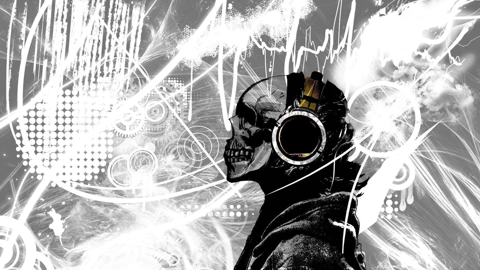 Skulls Music Skull Hd Wallpaper