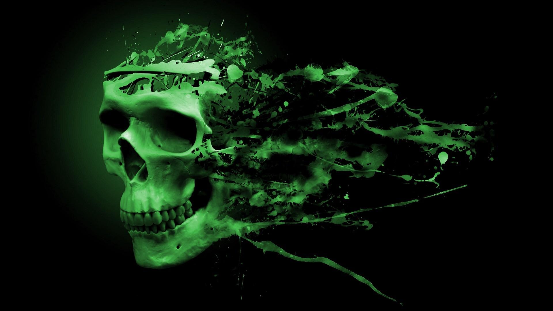 Green Skull Wallpaper Hd Skull hd wallpaper