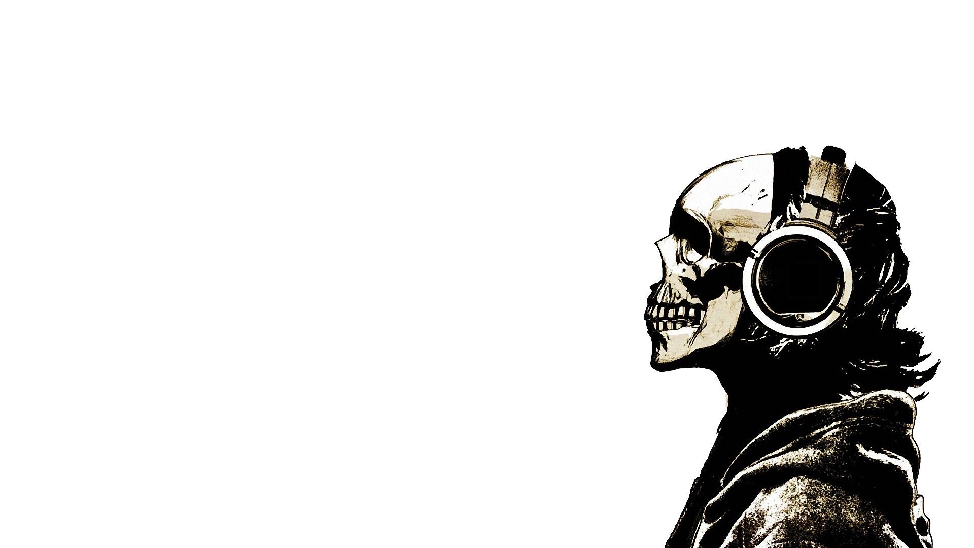 Skull with Headphones I like this | Soundbass | Pinterest | Wallpaper, Hd  wallpaper and Music wallpaper
