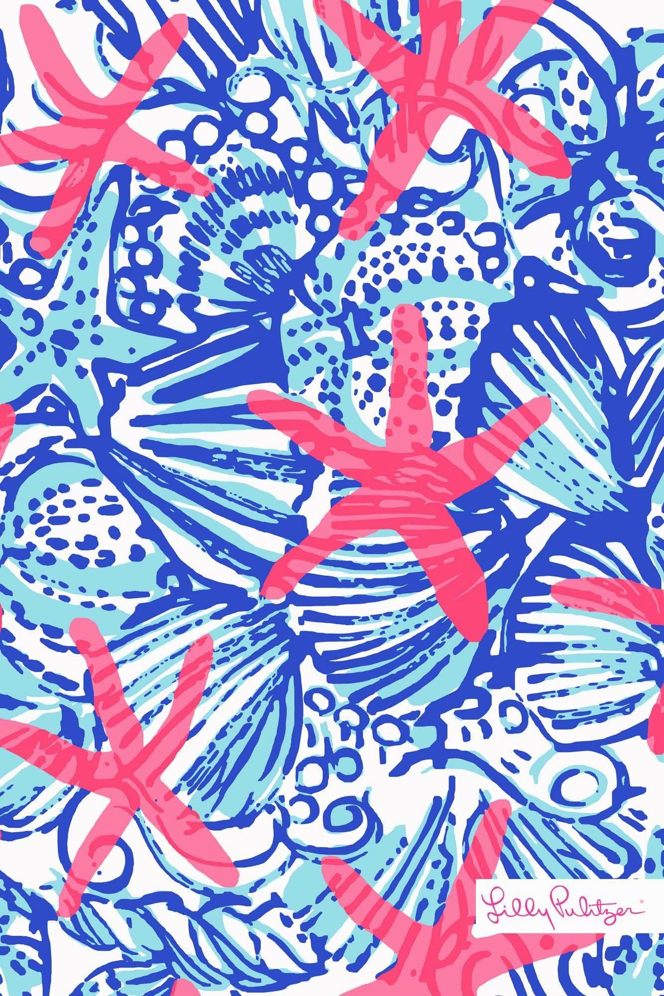 Lilly-Pulitzer-SummerSheSheShells-iphone-wallpaper-wallpaper-1