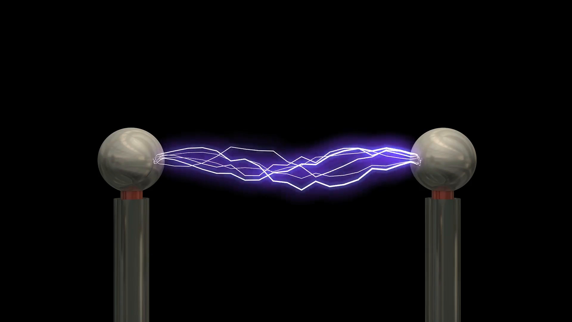 Concept animation Tesla coil, with matte. Motion Background – VideoBlocks