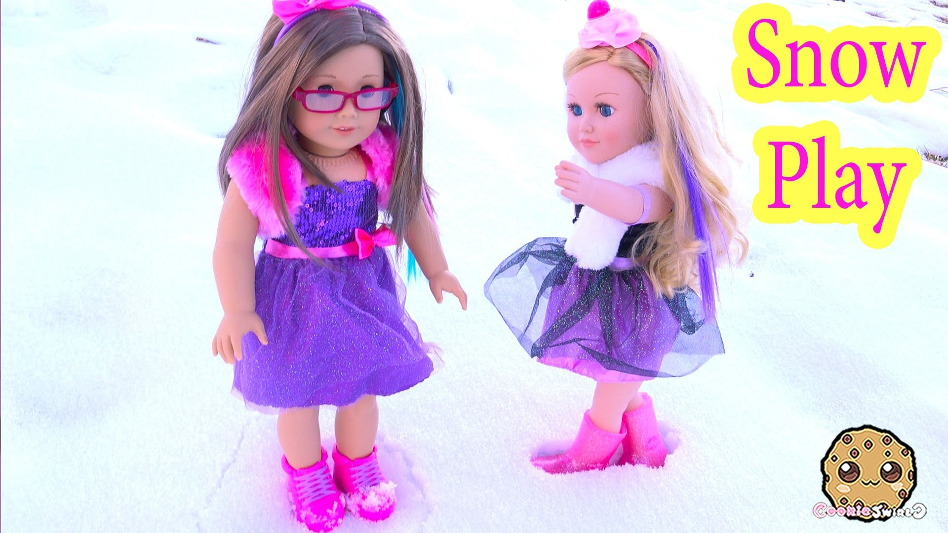 Snow Play Boots + Dresses Clothing Review for American Girl + My Life As  Cupcake Baker Doll – YouTube