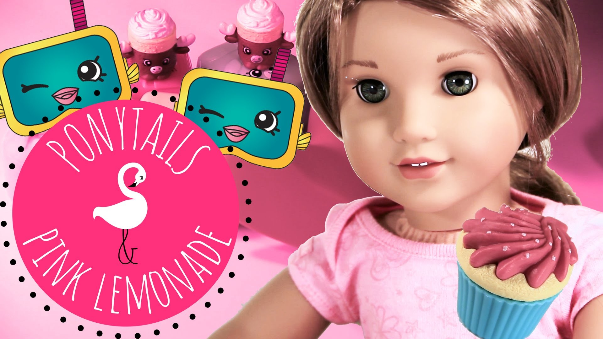 American Girl Doll Lea Rebecca and Pets Play Shopkins Matching Game