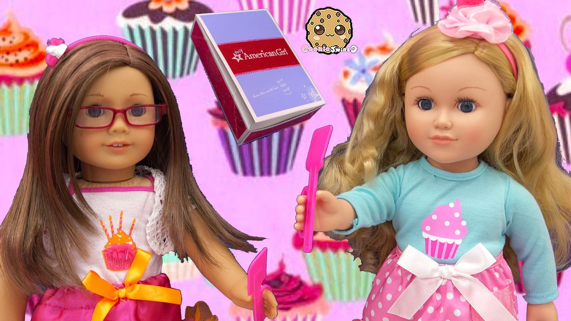 American Girl Doll Happy Birthday Outfit Clothing + My Life As Cupcake  Baker Review – YouTube