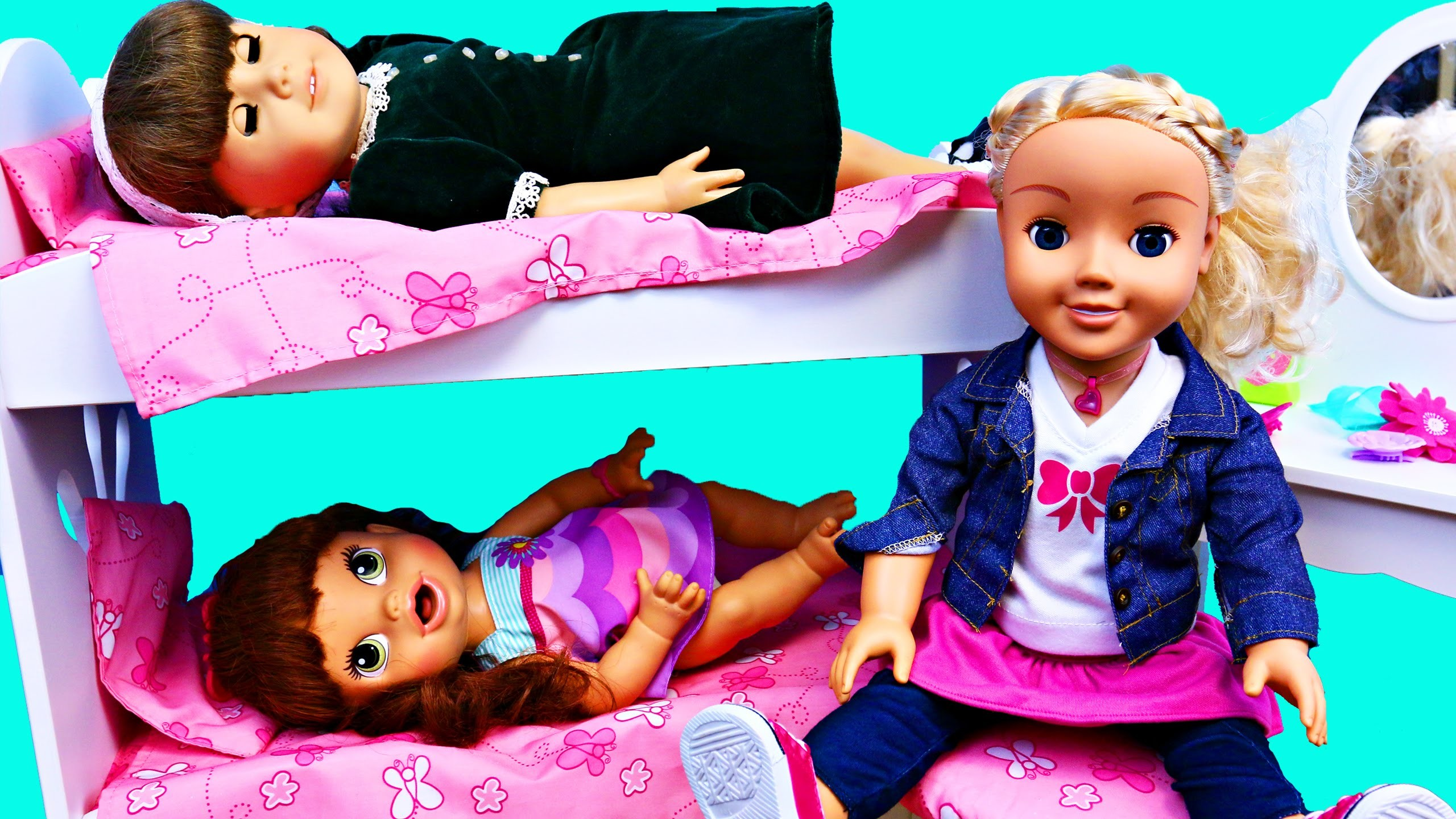 BABY ALIVE Sleepover With Lucy, AMERICAN GIRL DOLLS Molly & My Friend Cayla  Hair Makeover – YouTube
