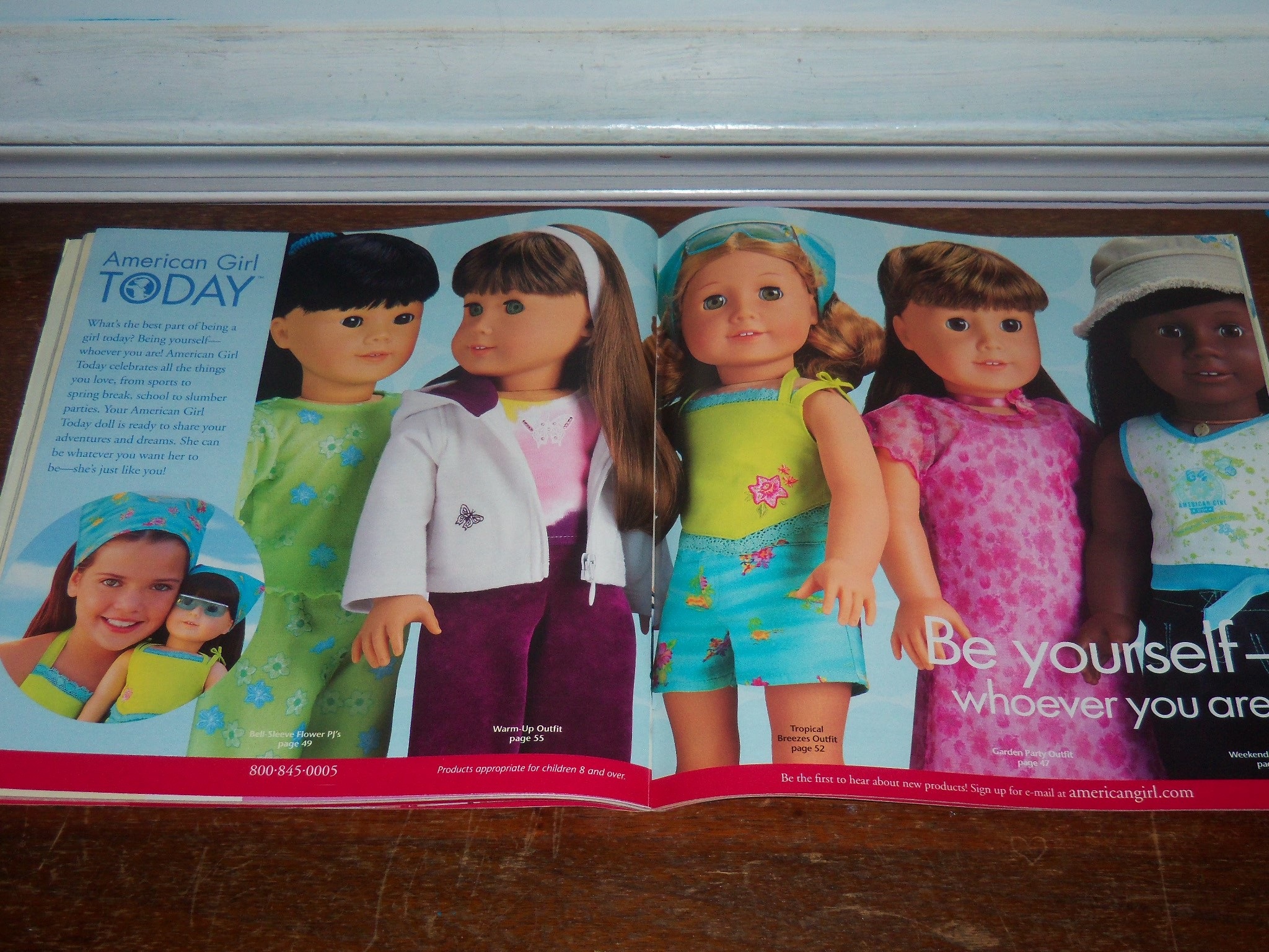 """This was the """"introductory page"""" to the Today line at the time. Every  season, the dolls would be dressed in different outfits. In this catalog,  since it was …"""