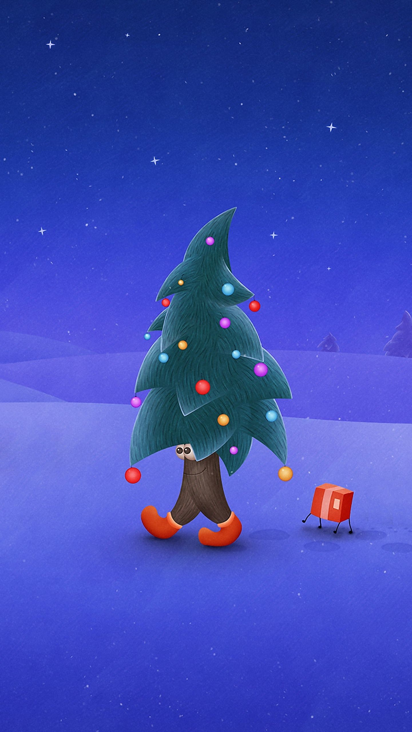 … Mobile Phone Wallpapers Quad Hd Funny Christmas Tree. Download