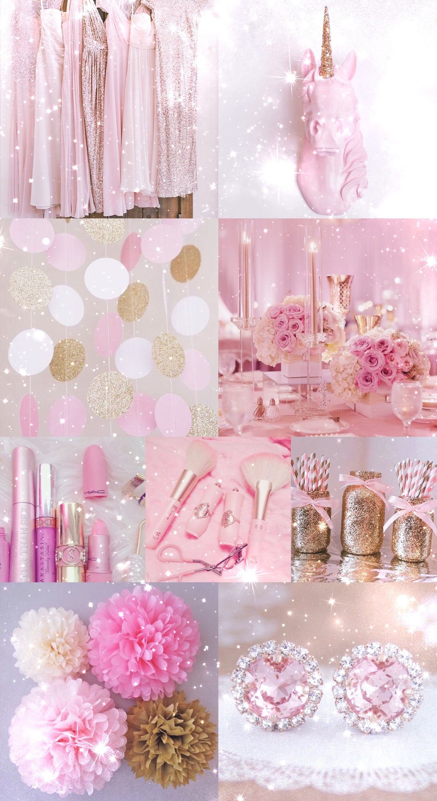 pink, gold, wallpaper, background, hd, iPhone, glitter, sparkle,