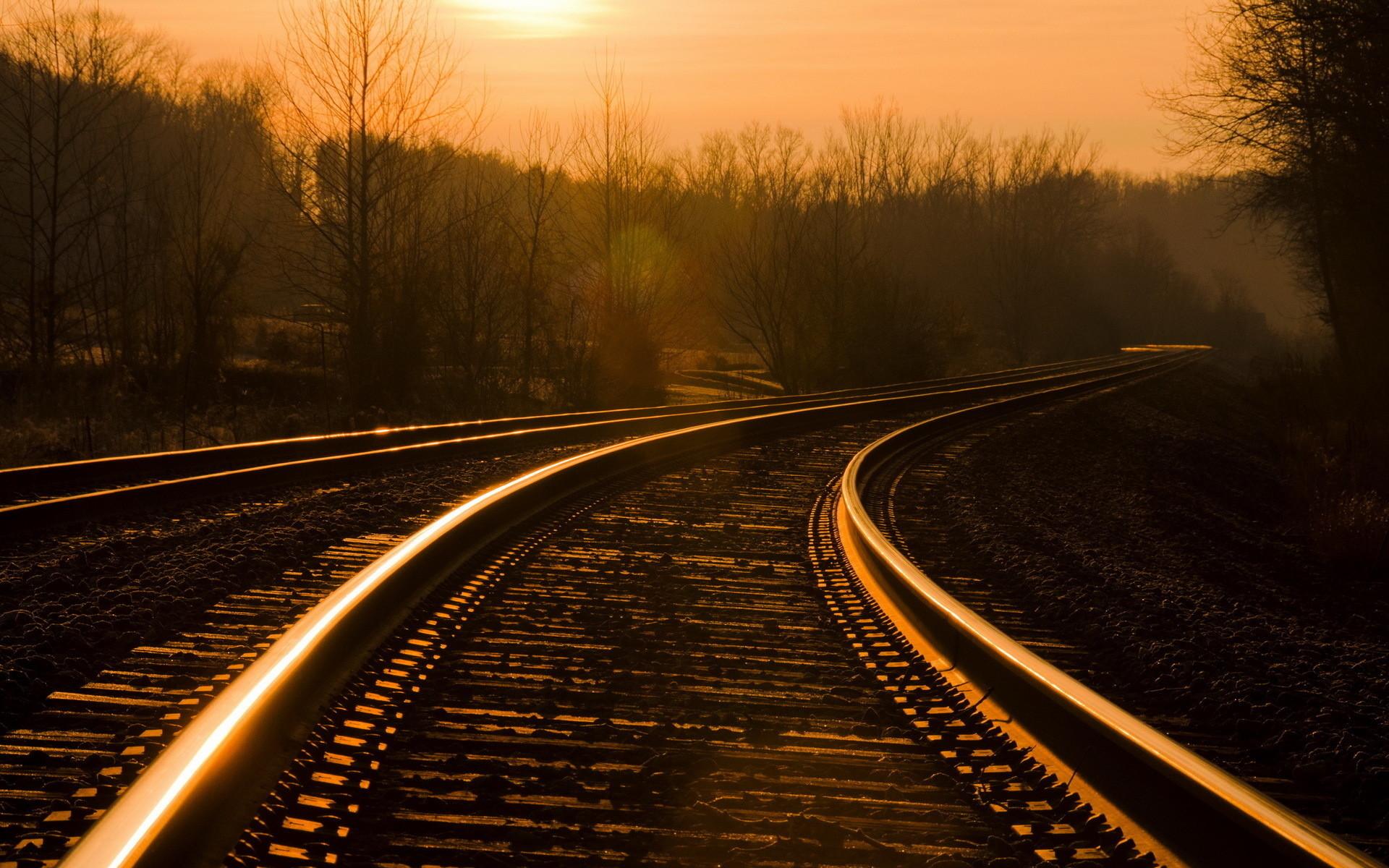 Trains railroad tracks