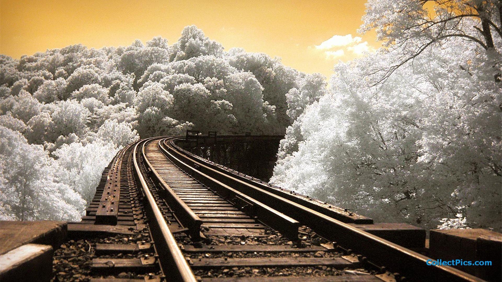 Train Track Wallpaper
