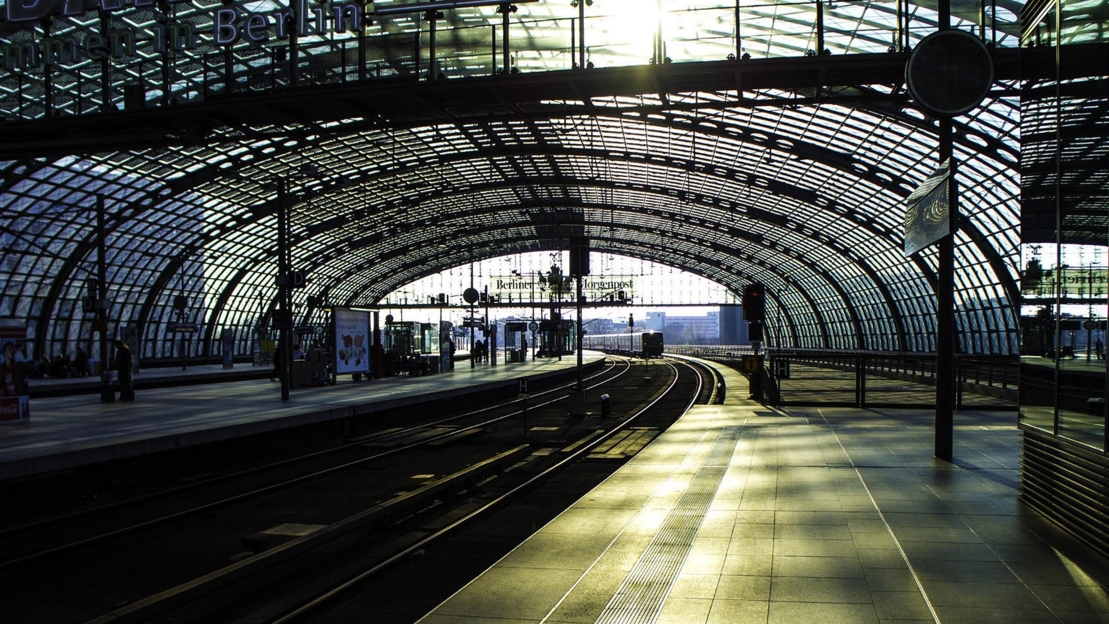 Wallpaper city, train, subway, station, track