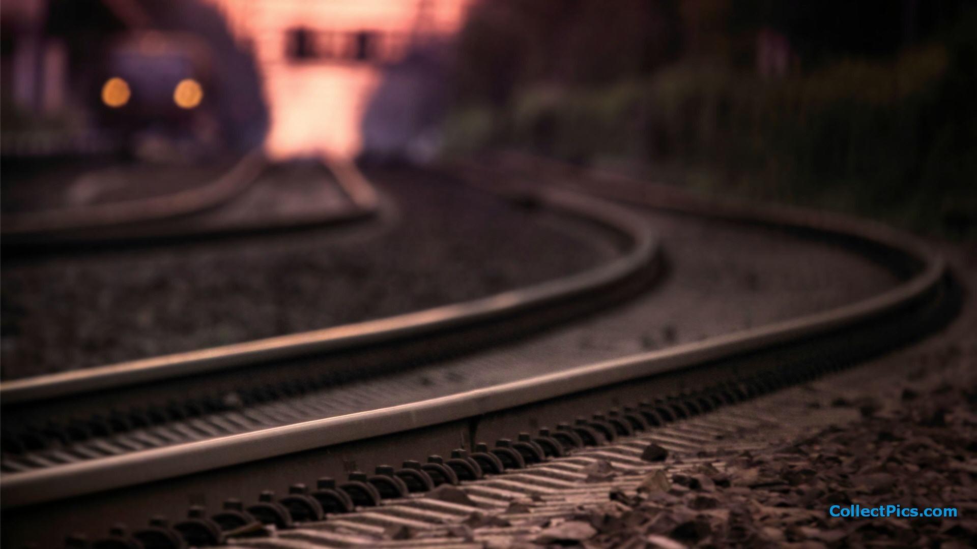 Train Track 1080p Wallpaper
