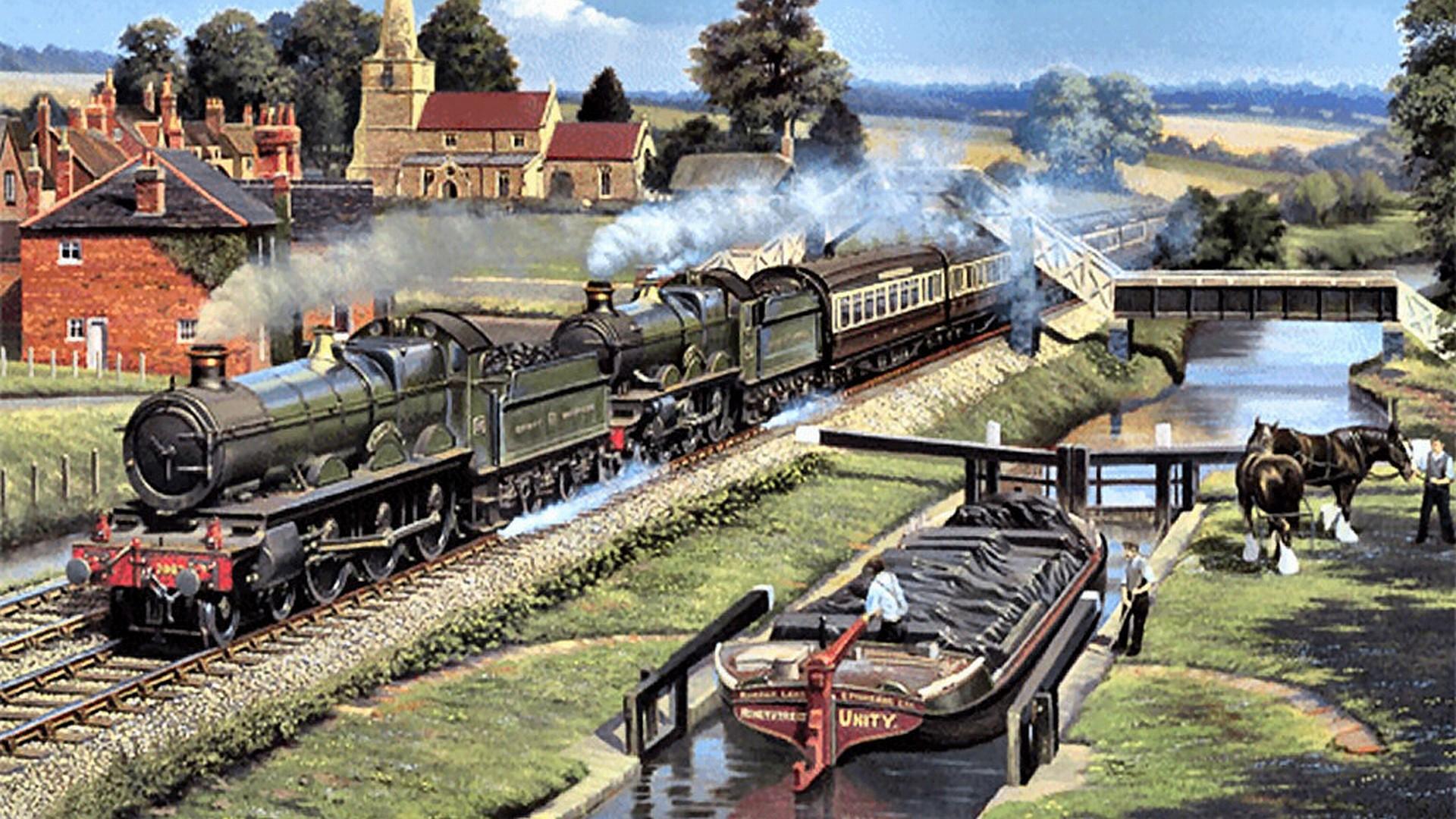 Train Vehicles Full HD Wallpaper Free Download