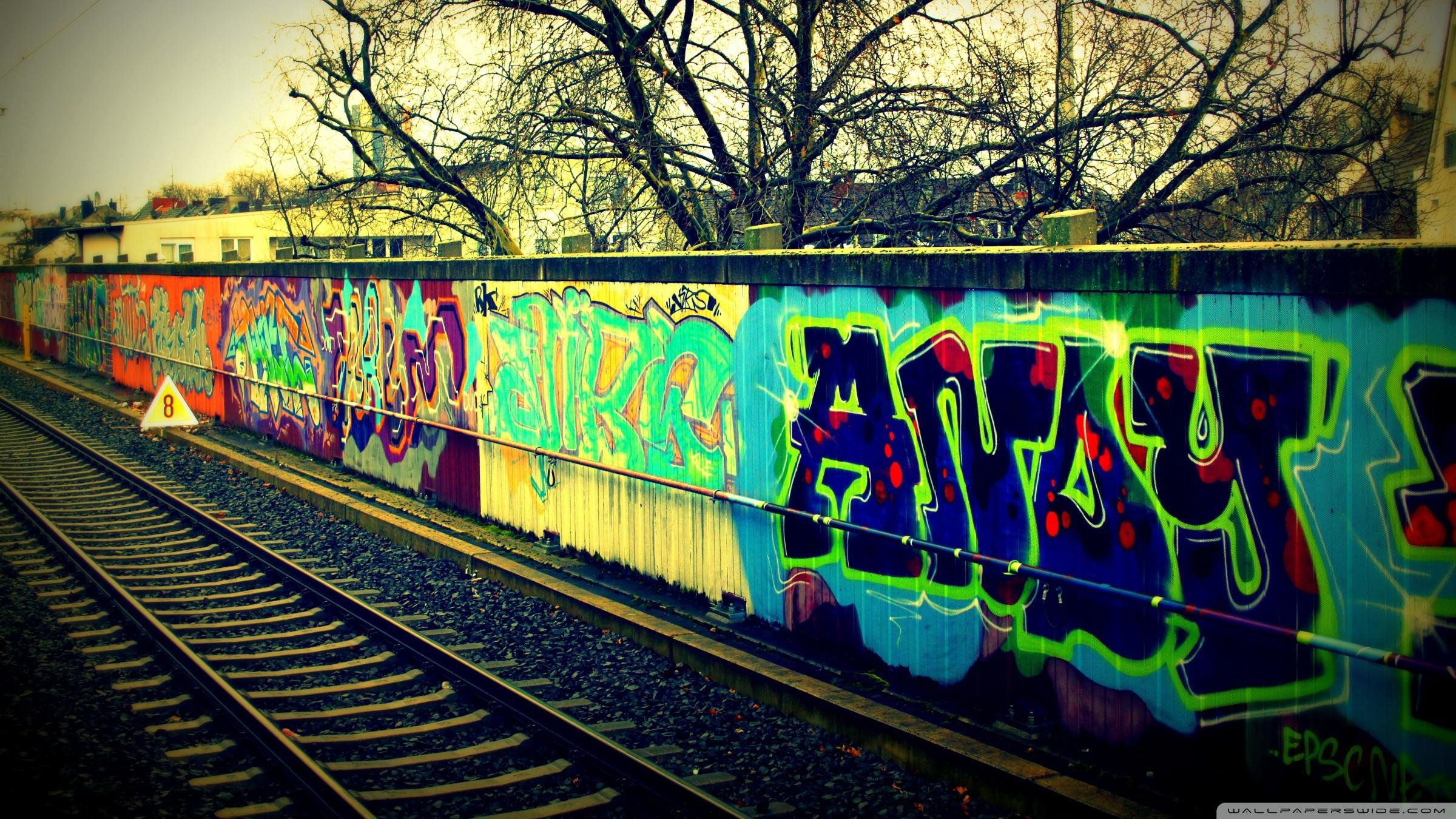Seriously Rough Urban Wallpaper Creative CanCreative Can · Train TracksDesktop  …