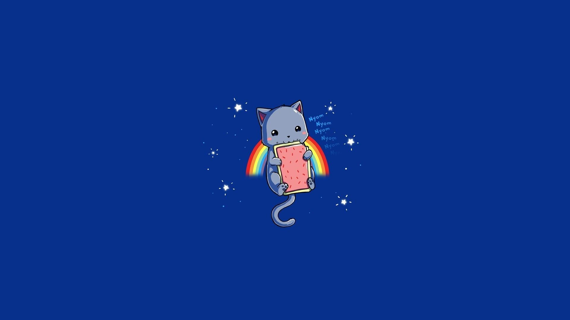 Cartoon – Nyan Cat Rainbow Blue Meme Wallpaper