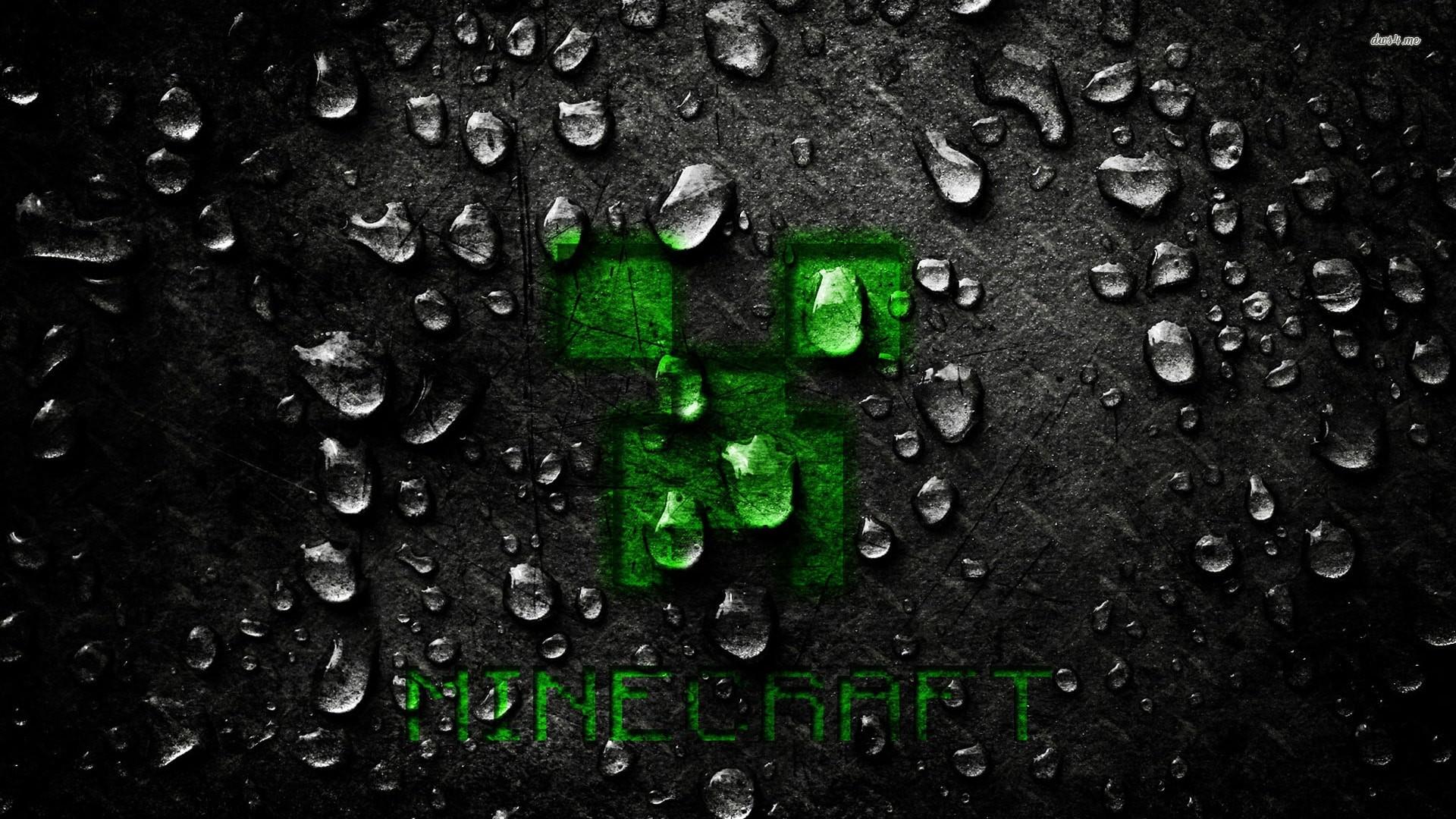 … Minecraft creeper wallpaper rain cover backgorund …