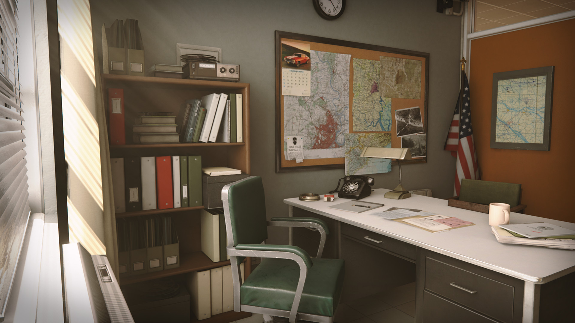 Retro Office Environment by Clinton Crumpler in Environments – UE4  Marketplace