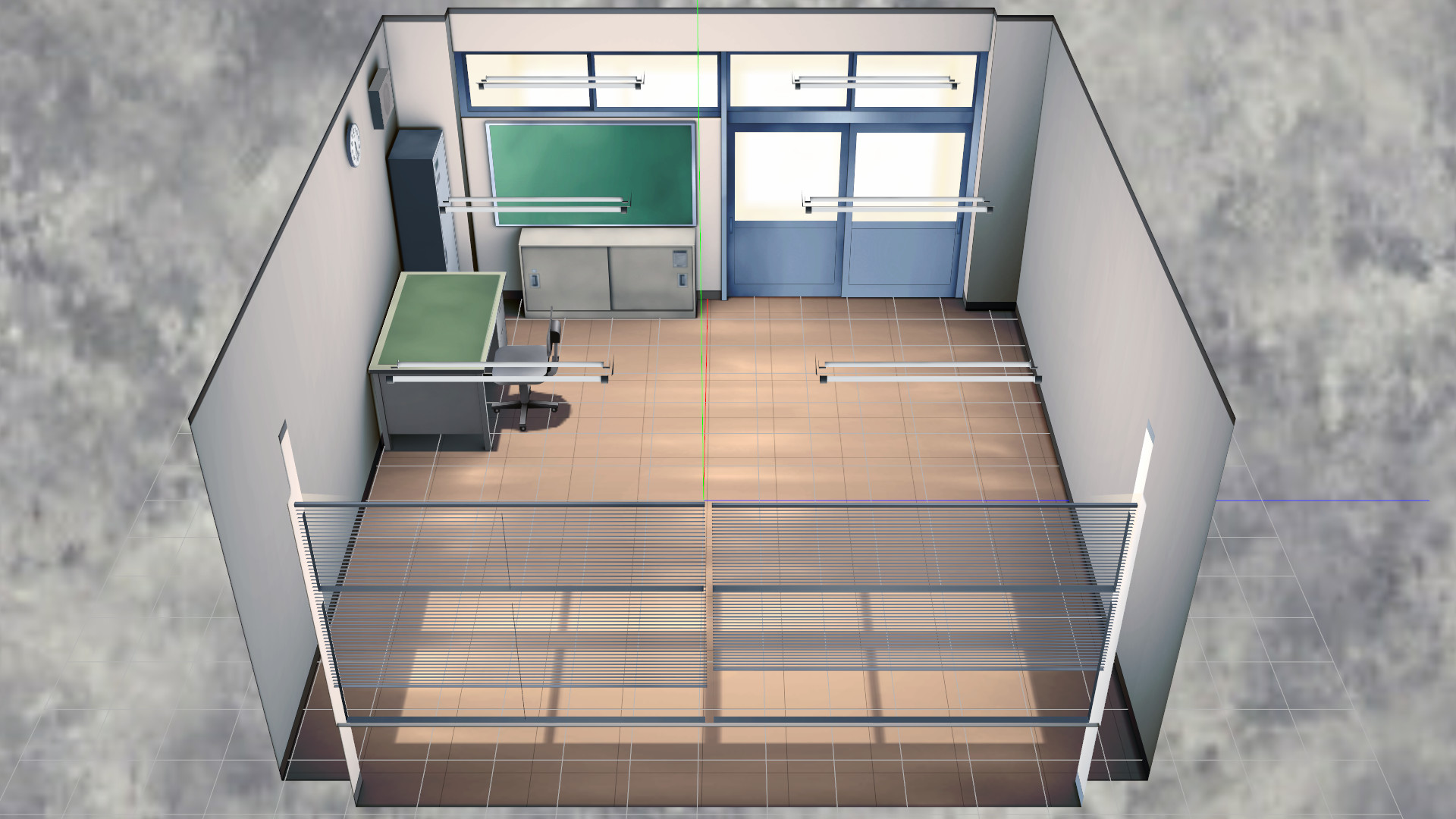 … MMD Empty School Office Stage by Maddoktor2
