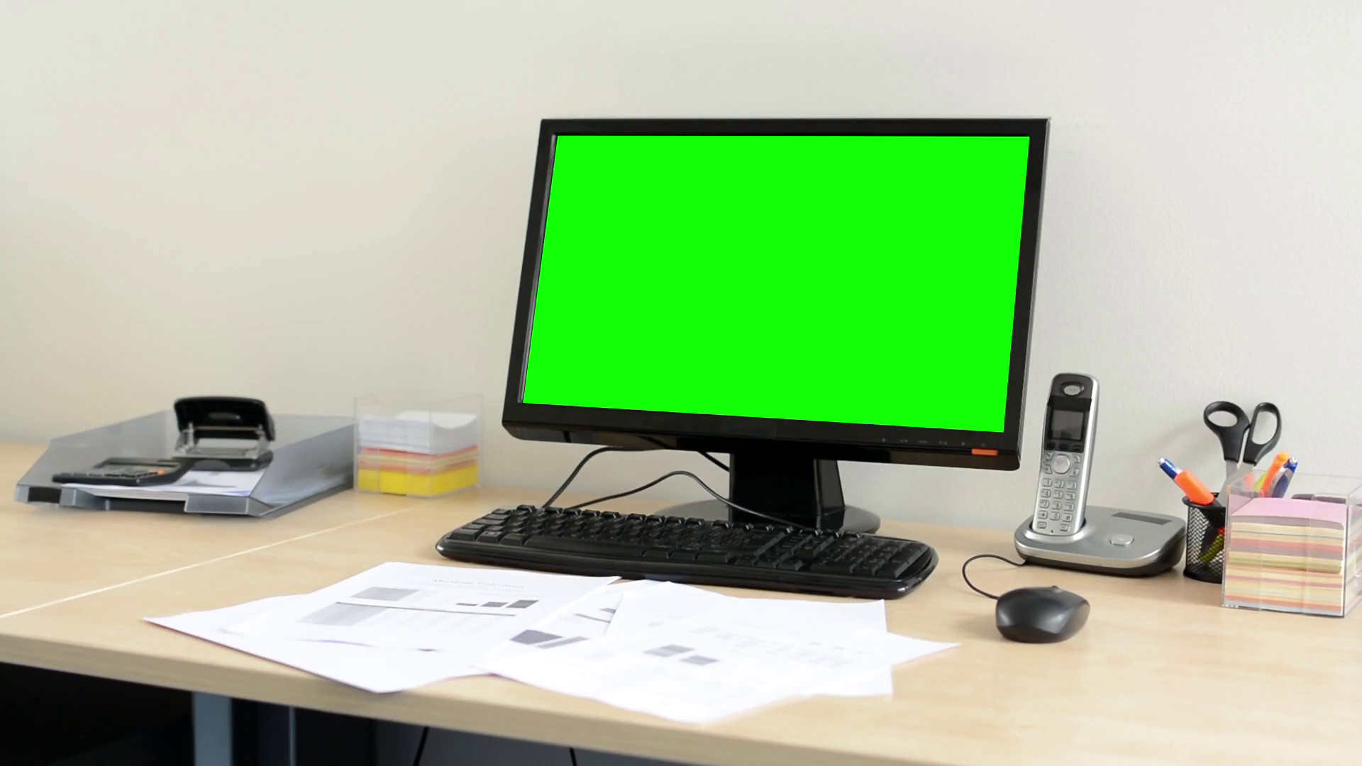 desktop computer in the office – green screen – nobody (empty) Stock Video  Footage – VideoBlocks