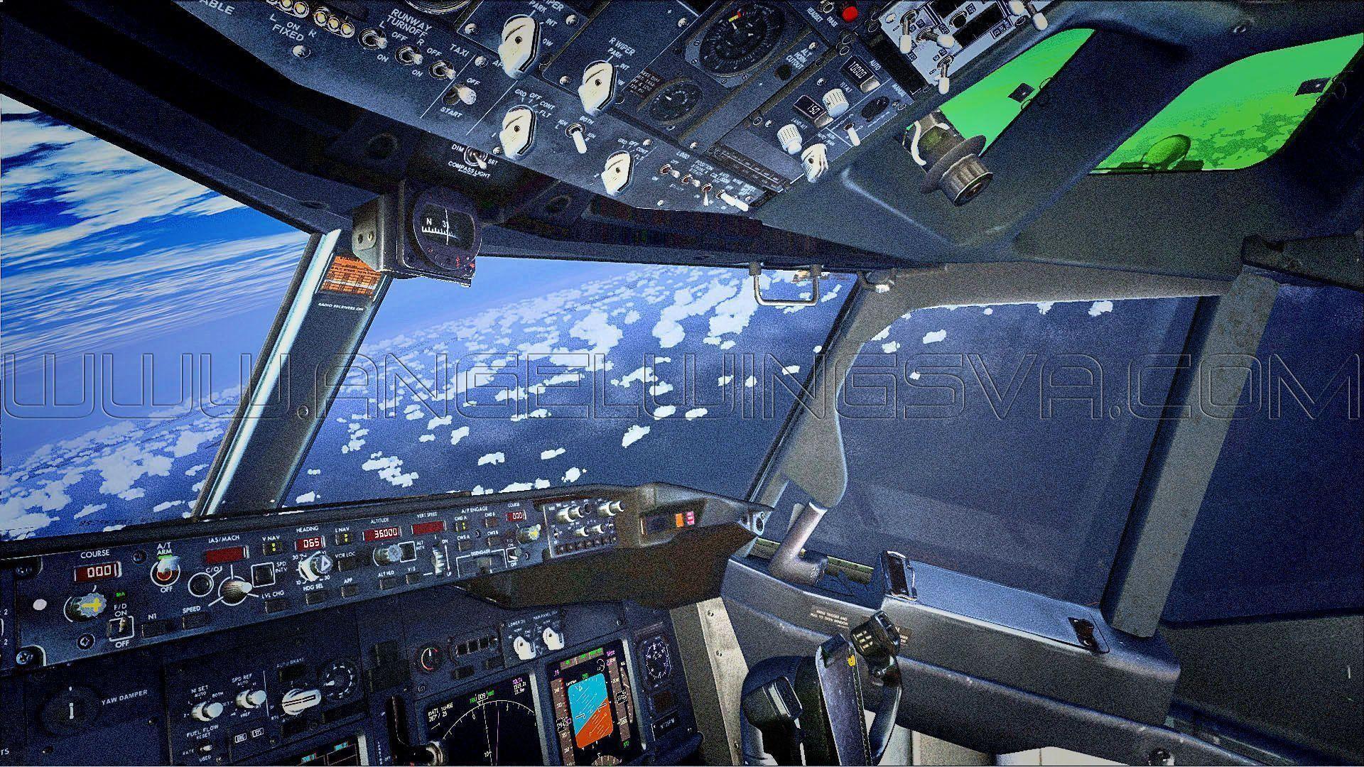Images For > Boeing Cockpit Wallpaper