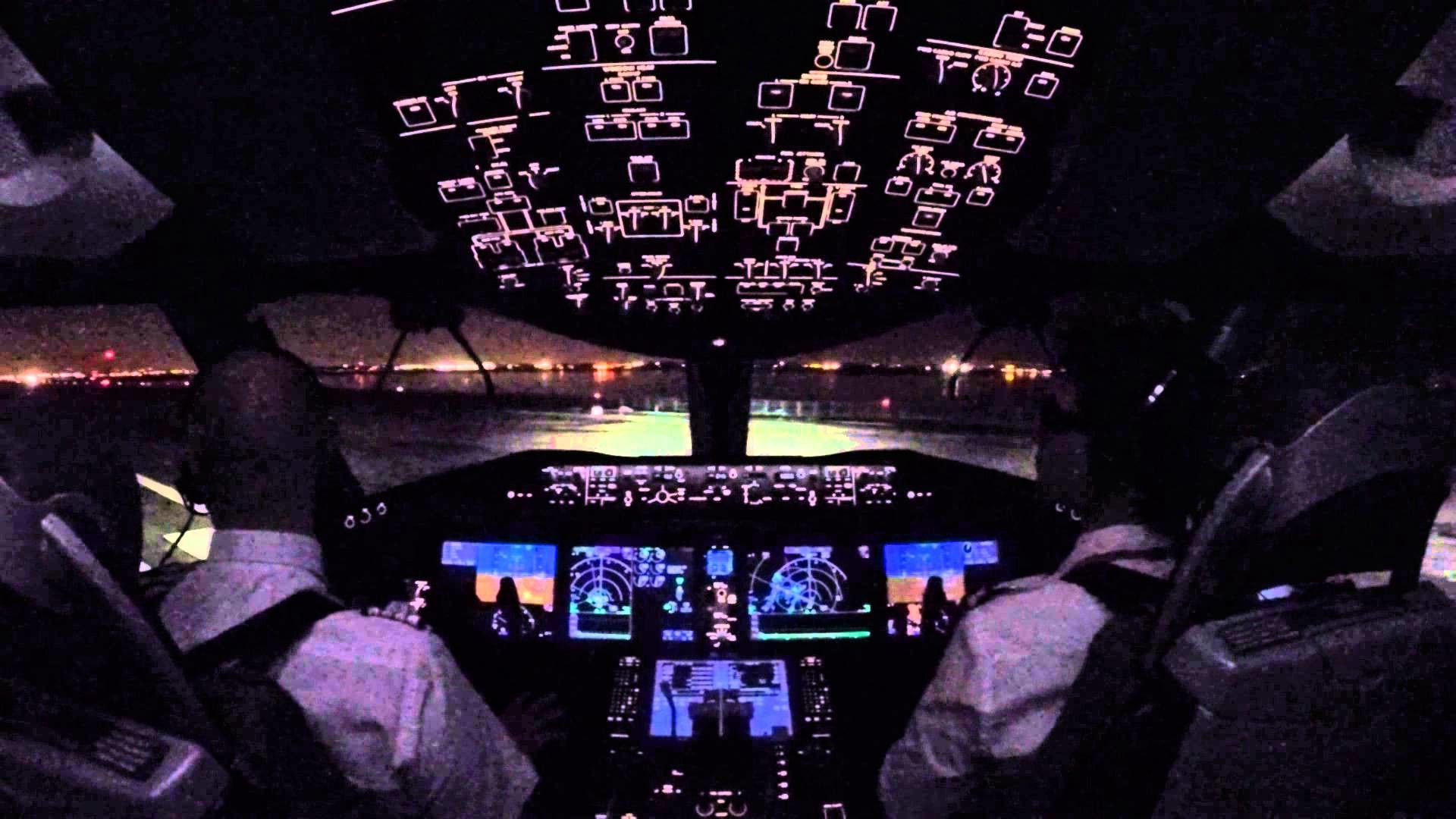 Cockpit view- Push back, Taxi and Take-off at JFK airport