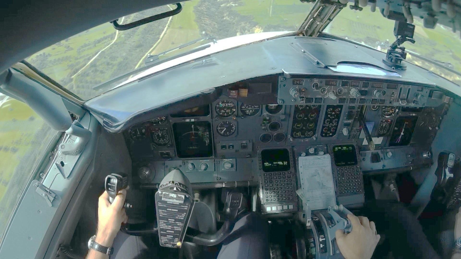 Boeing 737-400 Cockpit Flight LCLK-LGTS | Cockpit Takeoff and Landing |  GoPro Full Flight – YouTube