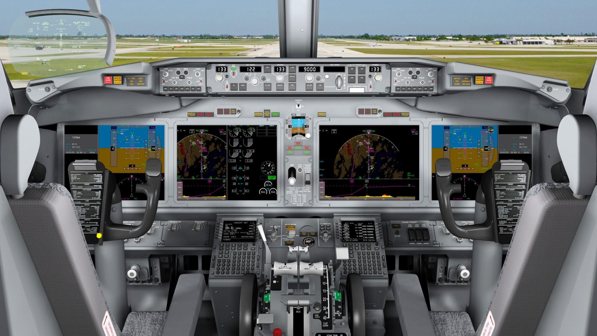 Boeing 737 MAX cockpit. Photo: Boeing.