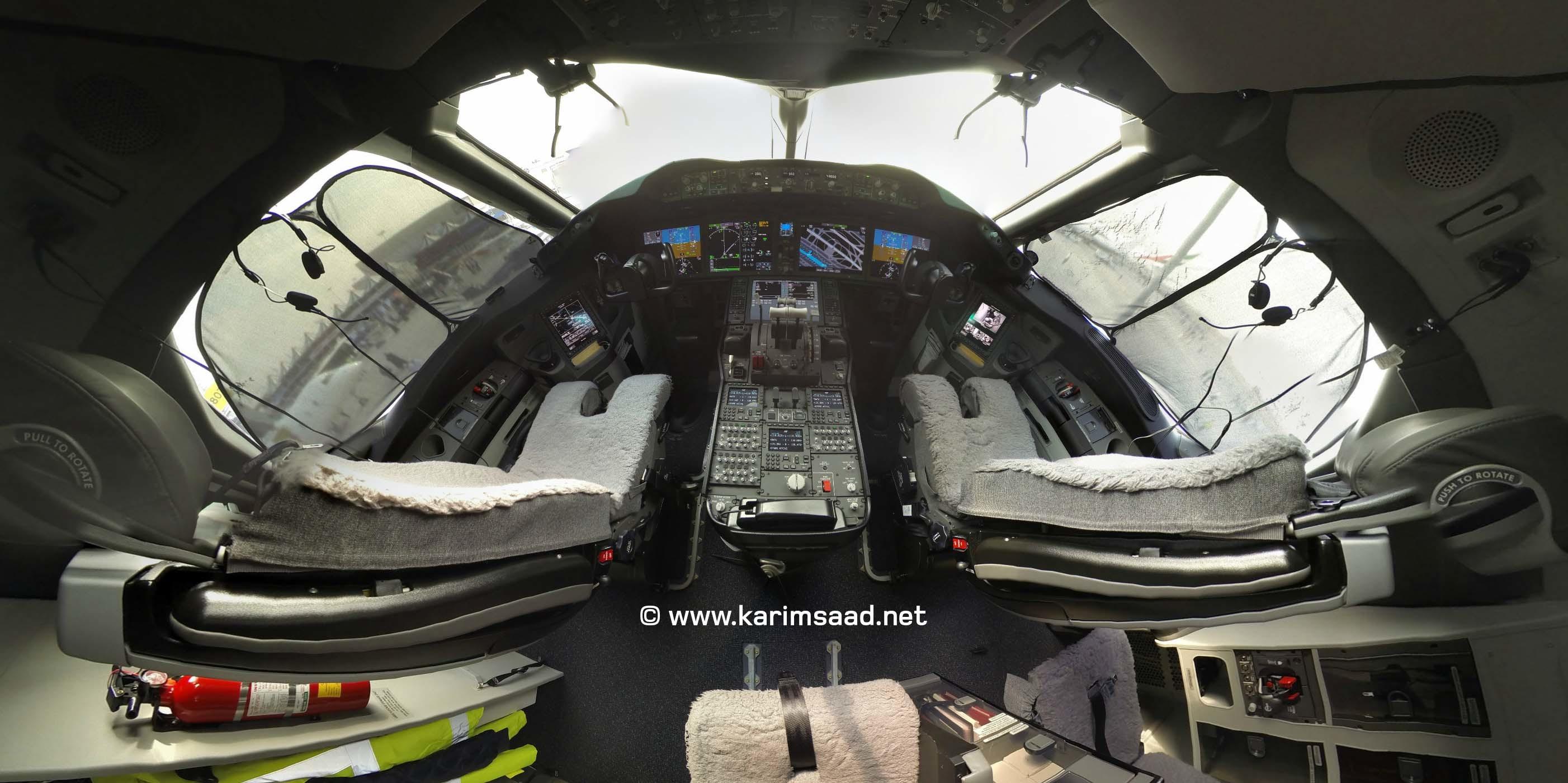 Boeing 787 Dreamliner Cockpit Interior Aviation