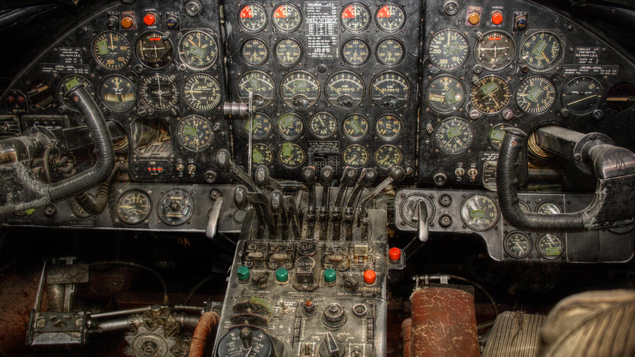 Vintage Airplane Cockpit Wallpaper Vergil Kanne Photography