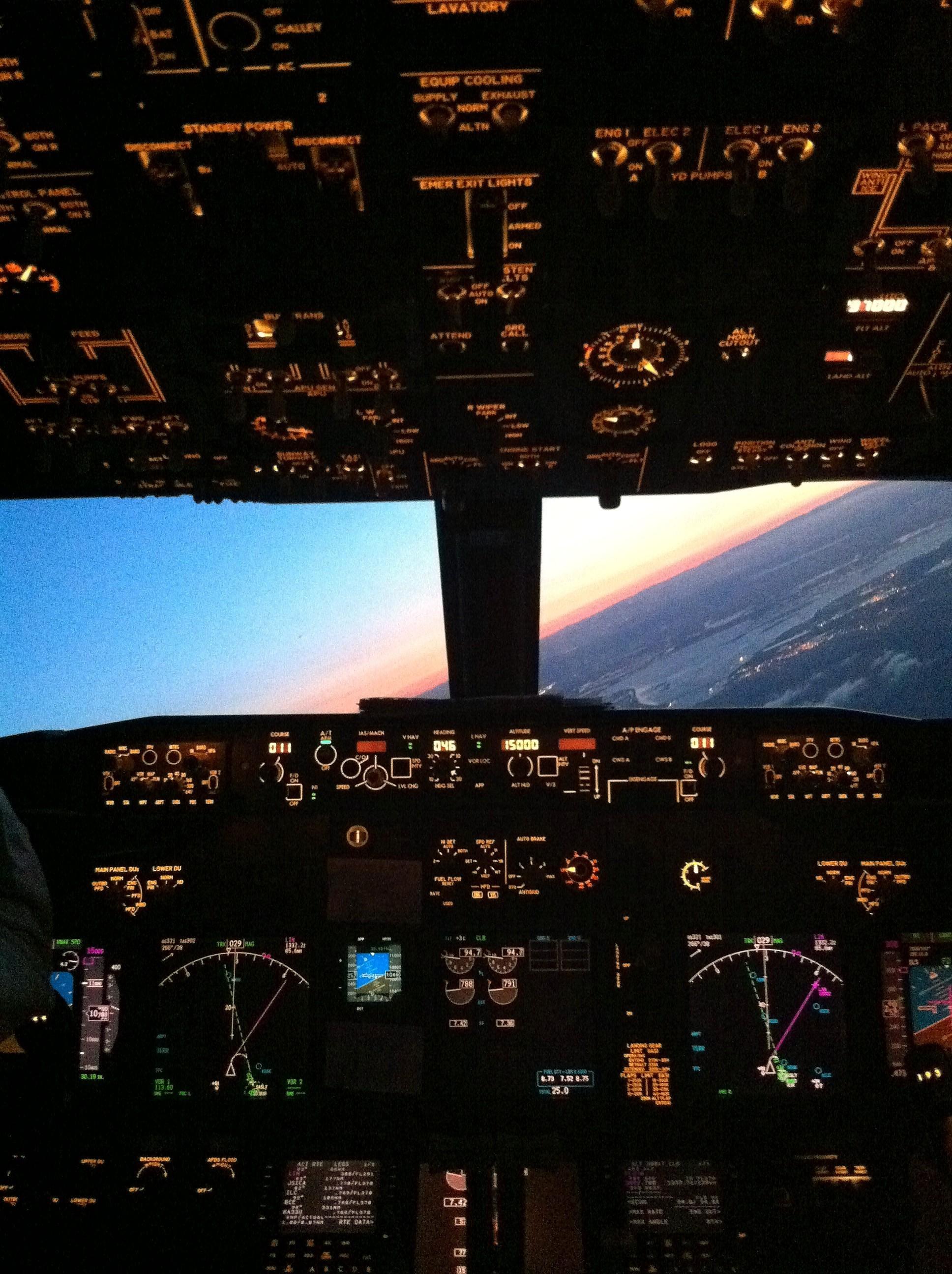 cockpit sunrise