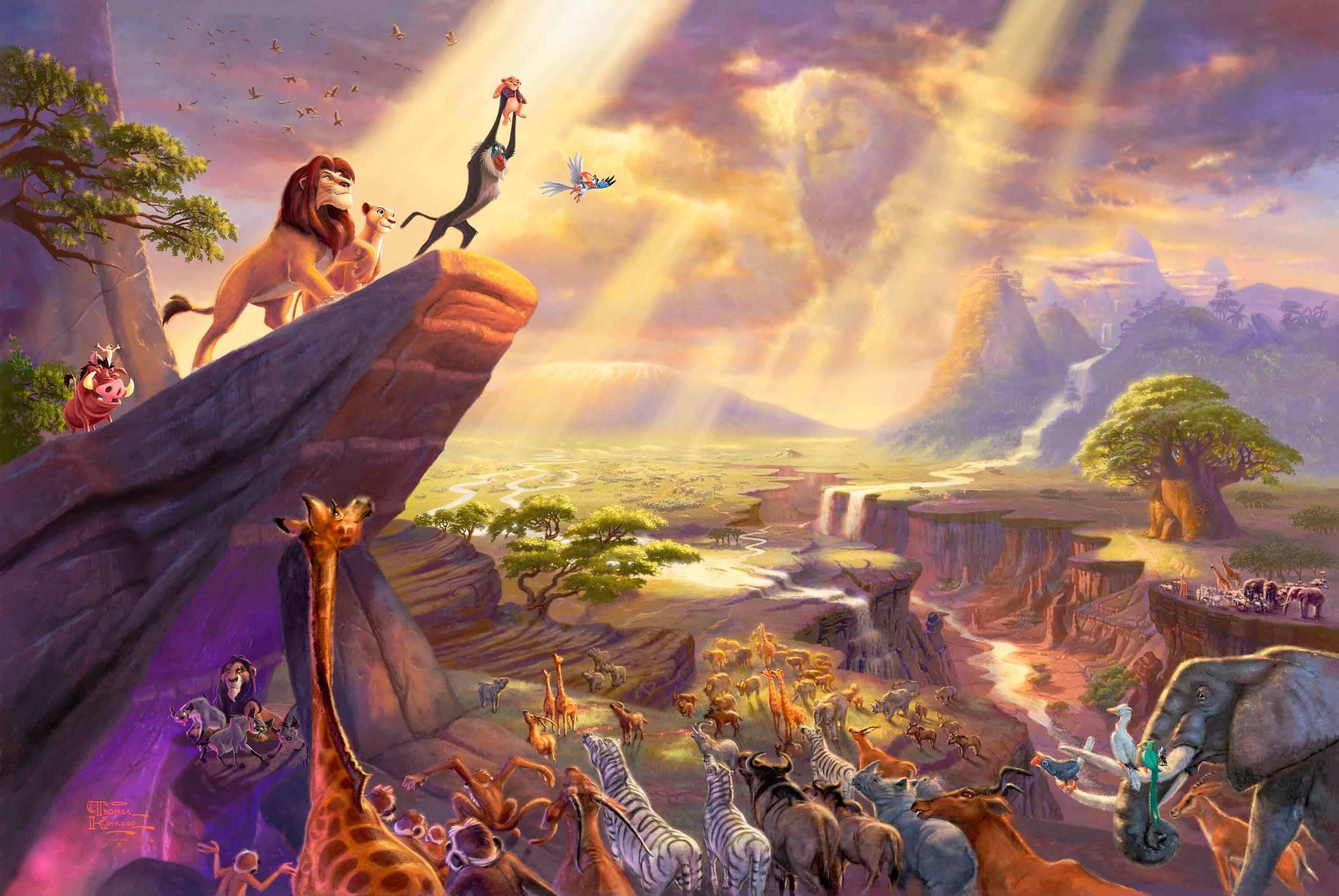 Walt Disney Characters Thomas Kinkade's Disney Paintings – The Lion .