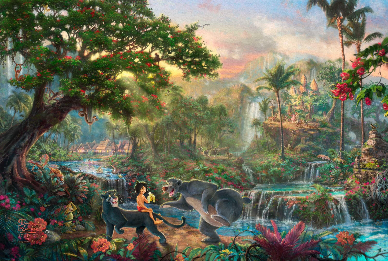The Jungle Book | Thomas Kinkade | Pinterest | Thomas kinkade, Disney art  and Thomas kinkade disney