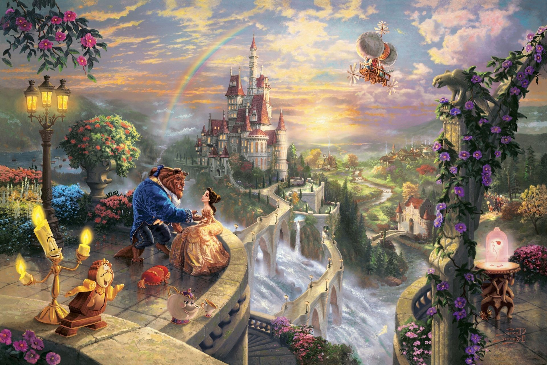 Thomas kinkade the disney dreams collection beauty and the .