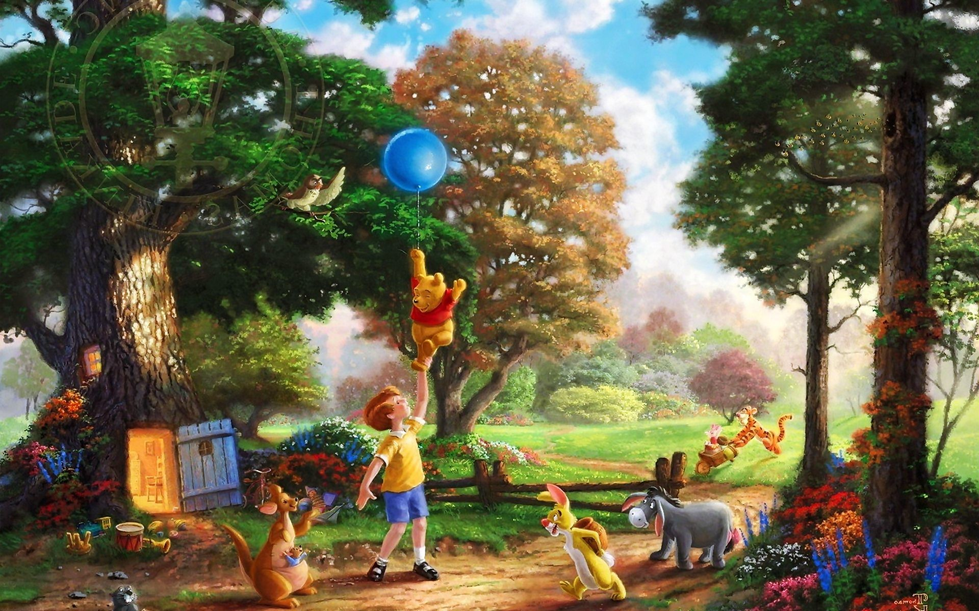 Winnie The Pooh Thomas Kinkade Wallpaper,Images,Pictures,Photos,HD  Wallpapers