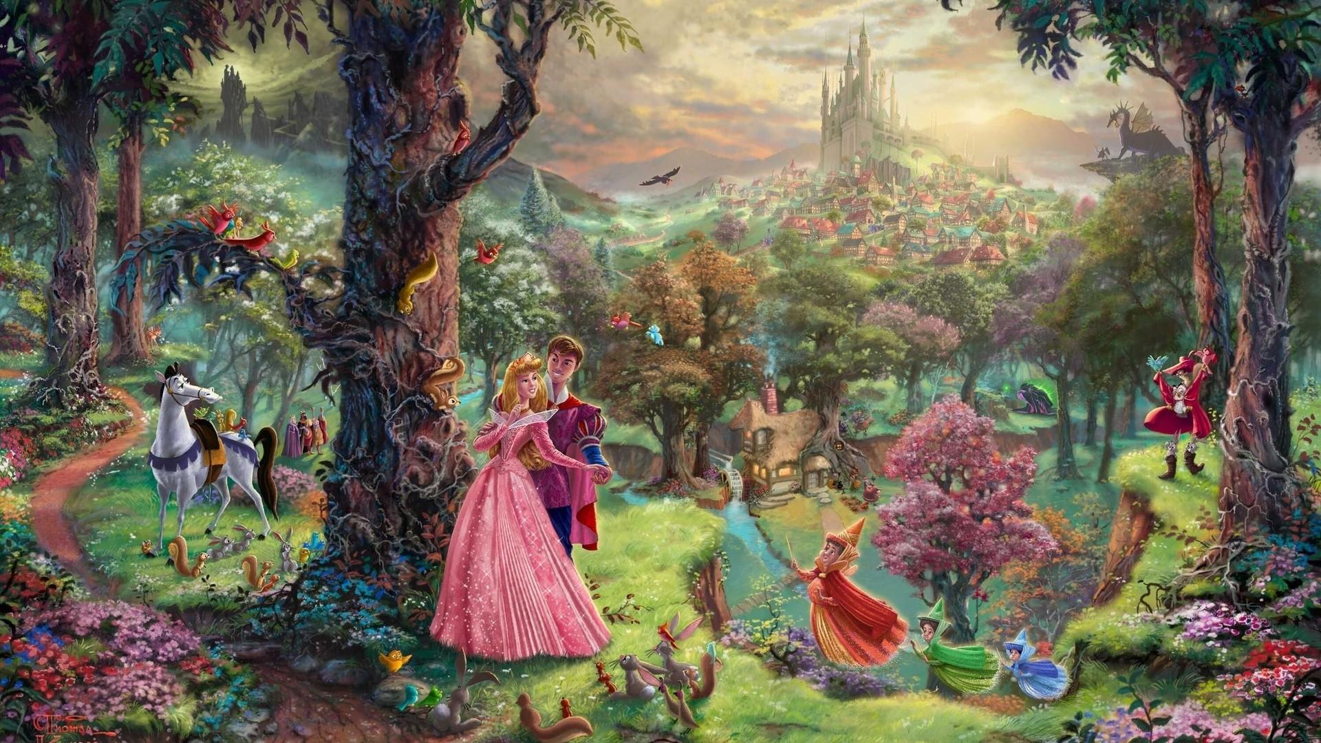 Thomas Kinkade Disney Paintings wallpaper 225574