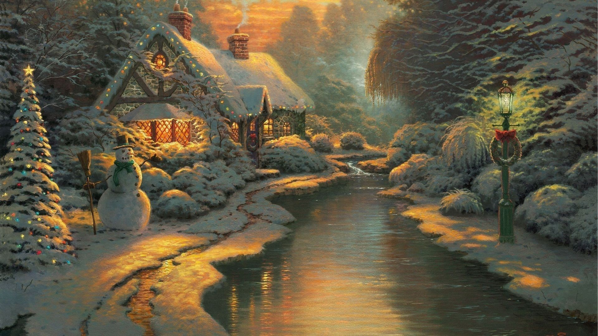 Thomas Kinkade Christmas Wallpaper (13)
