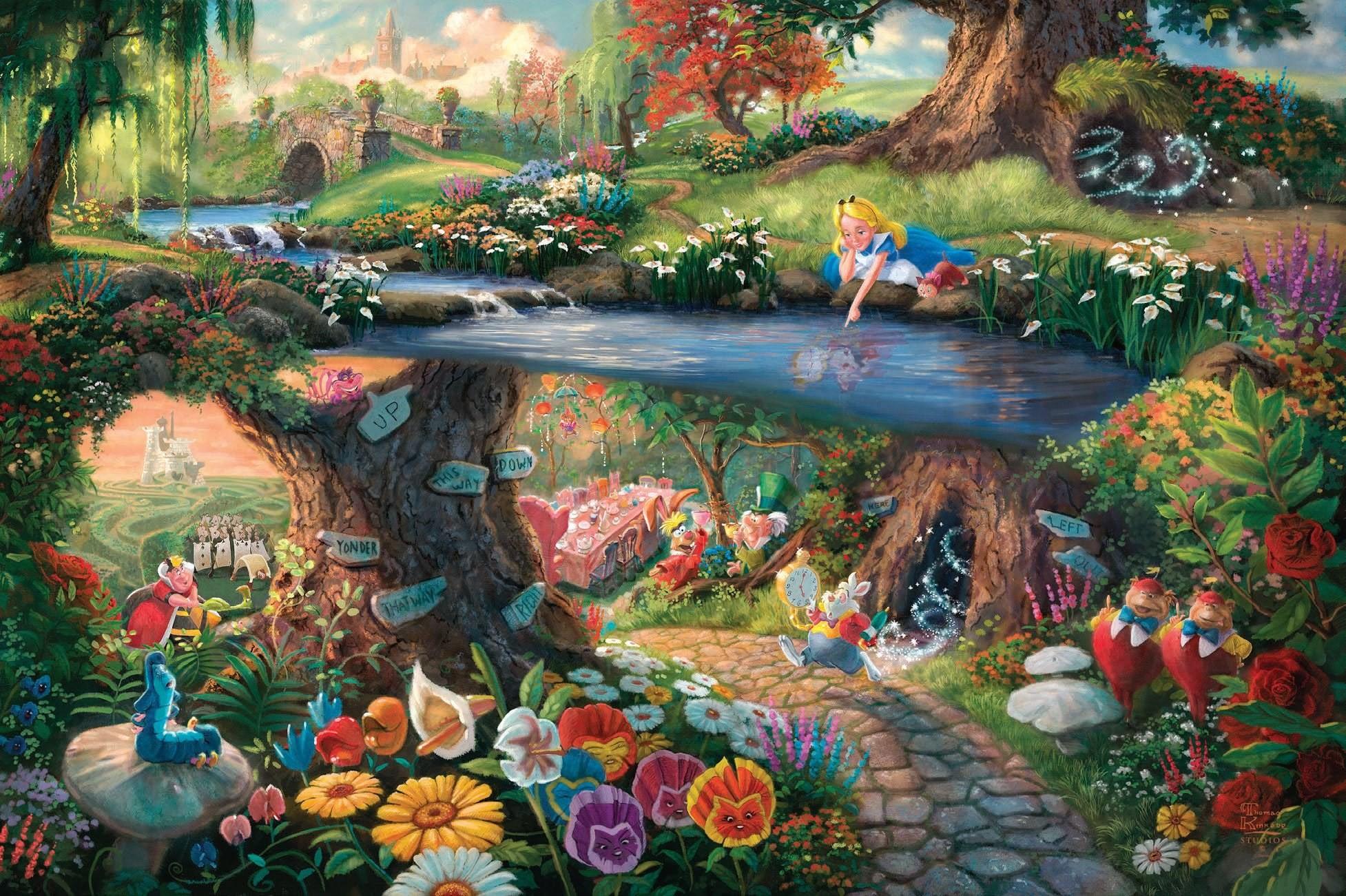 Kproject Alice in Wonderland wallpaper HD by ArcanachanHTH on · Thomas  Kinkade DisneyDisney …