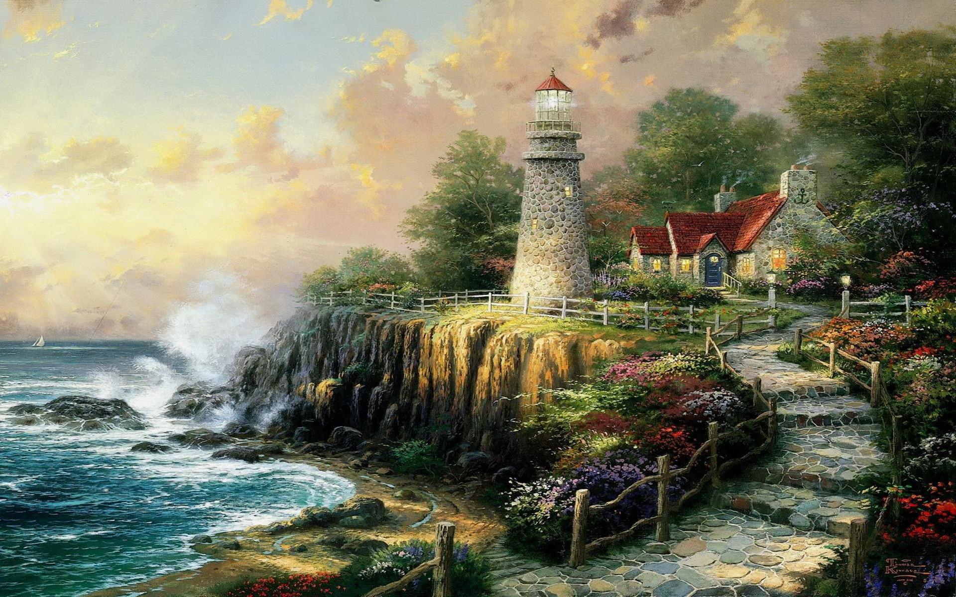 140 best Thomas Kinkade images on Pinterest | Thomas kinkade, Paintings and  Image