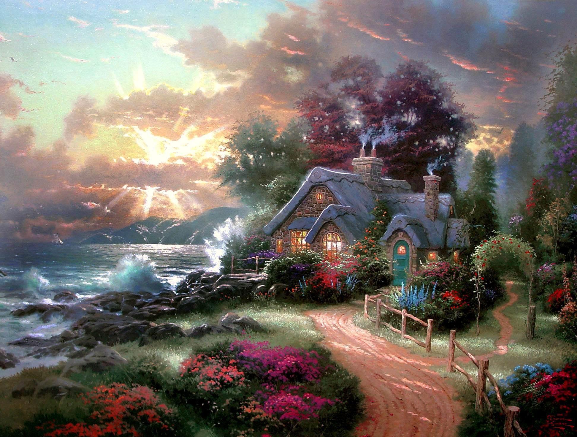 HD Wallpaper Background ID Thomas Kinkade Disney Wallpaper