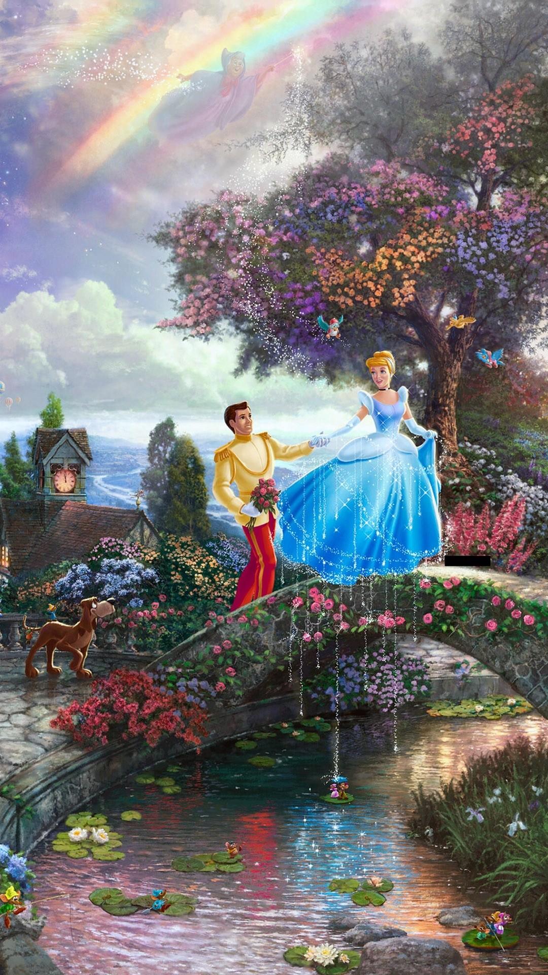 Thomas Kinkade Cinderella Painting
