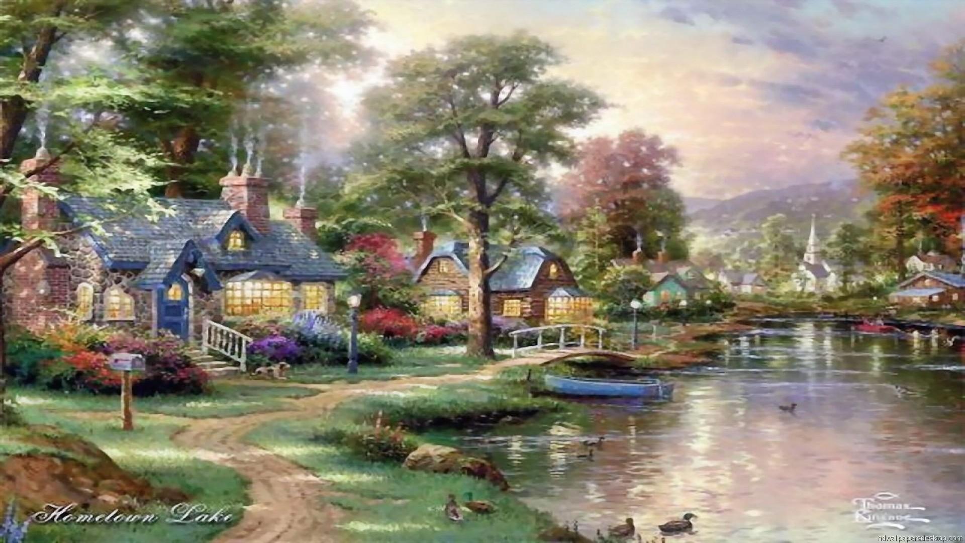 … Thomas Kinkade Wallpaper, Paintings, Art, HD, Desktop, Thomas Kinkade 3  …