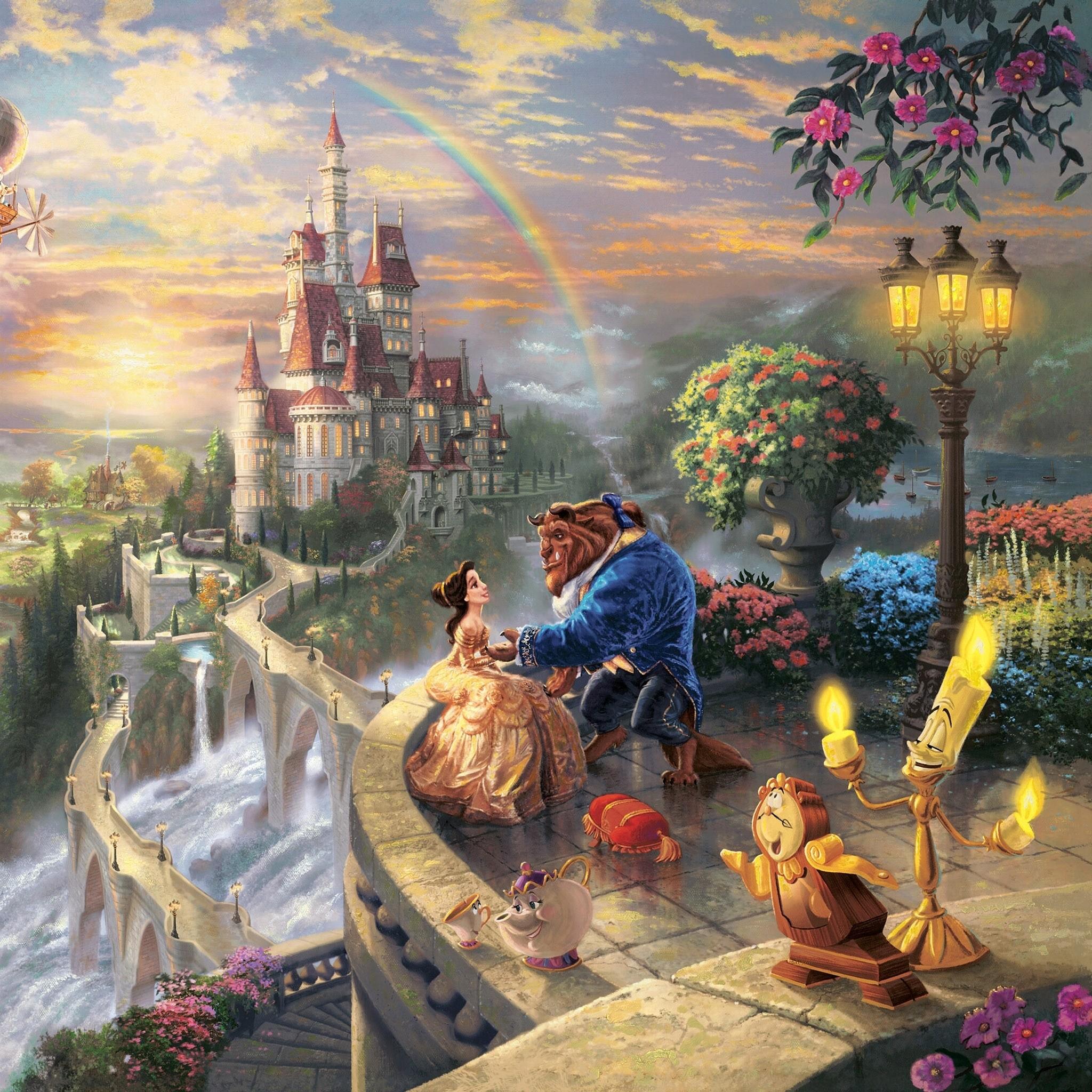 Thomas Kinkade Beauty and the Beast