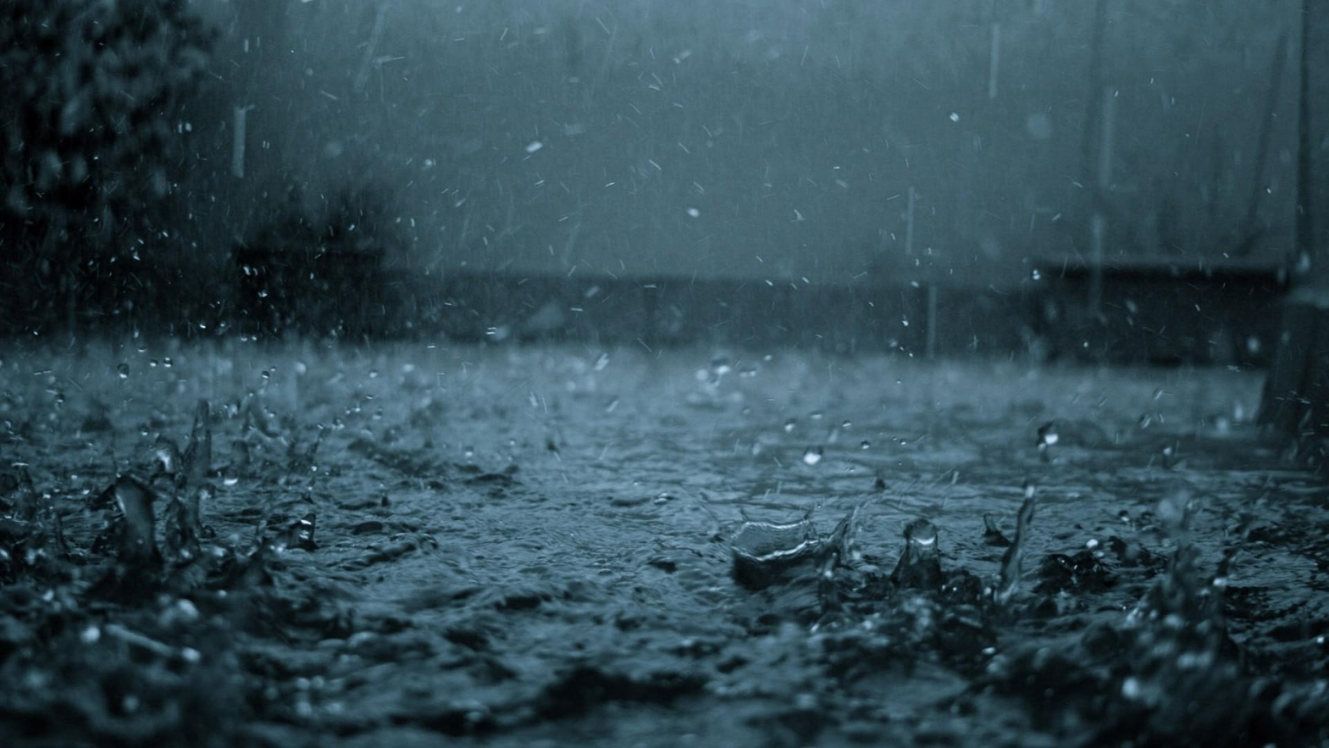 Preview wallpaper rain, drops, splashes, heavy rain, dullness, bad weather  1920×1080