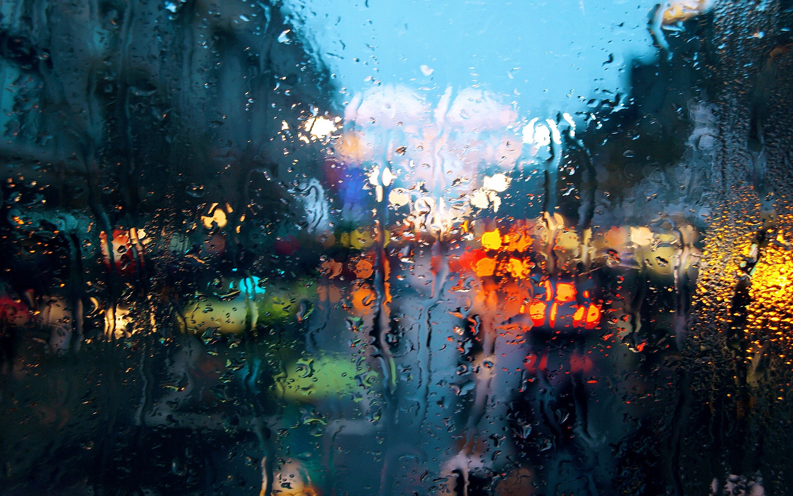Rain On Glass Wallpapers