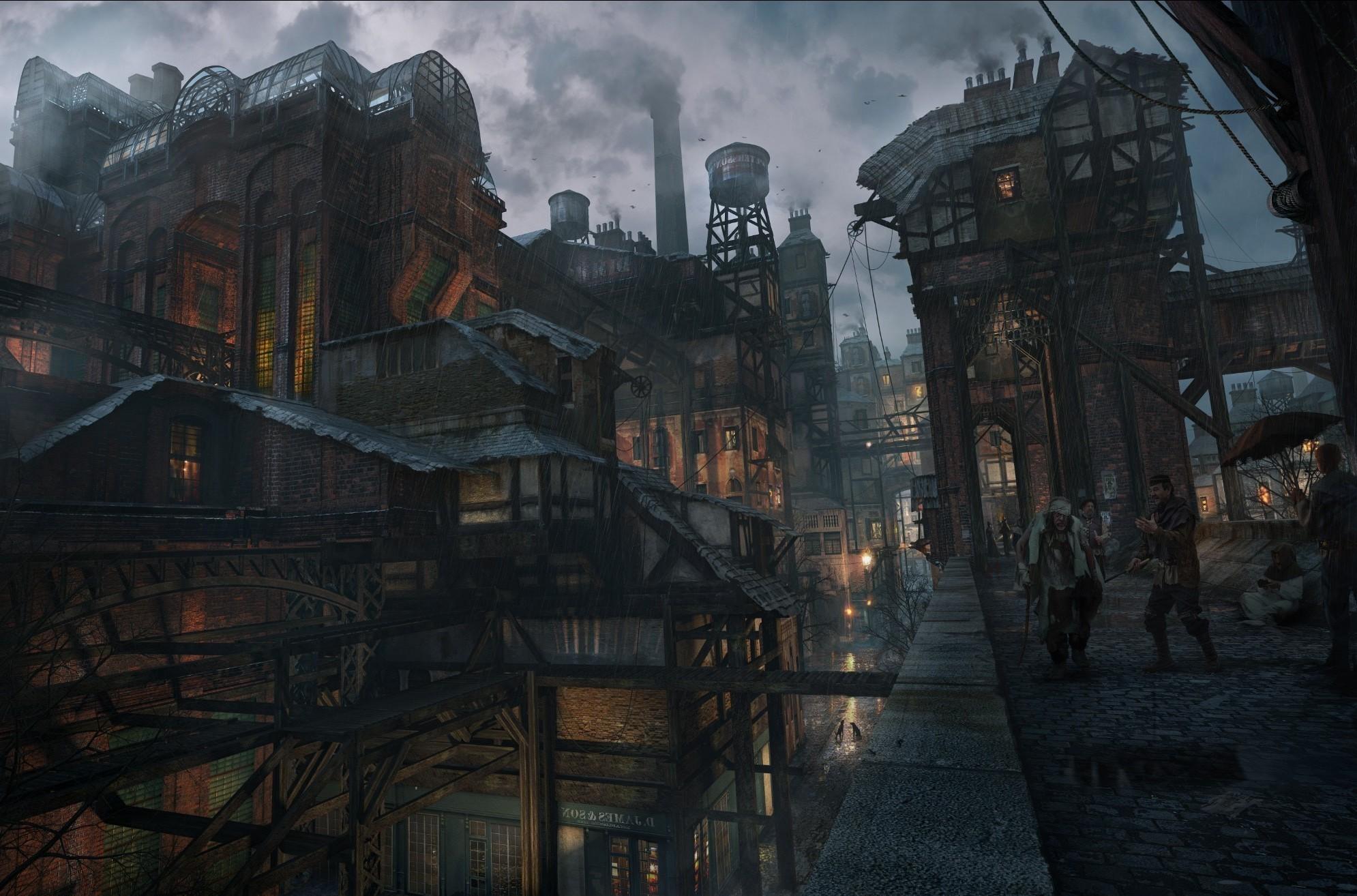 Download Original Size. ,. City Rain CGI HD desktop wallpaper …