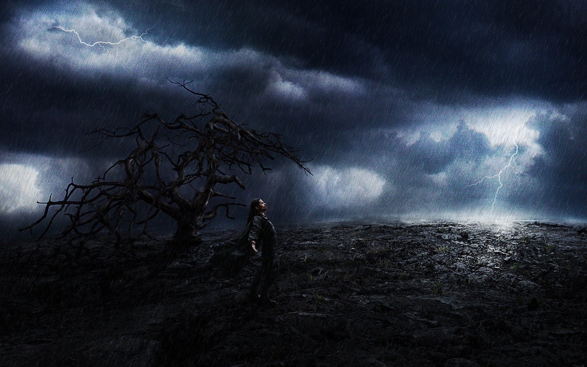 Rain Storm | Download wallpaper man, rain, storm free desktop wallpaper in  the .