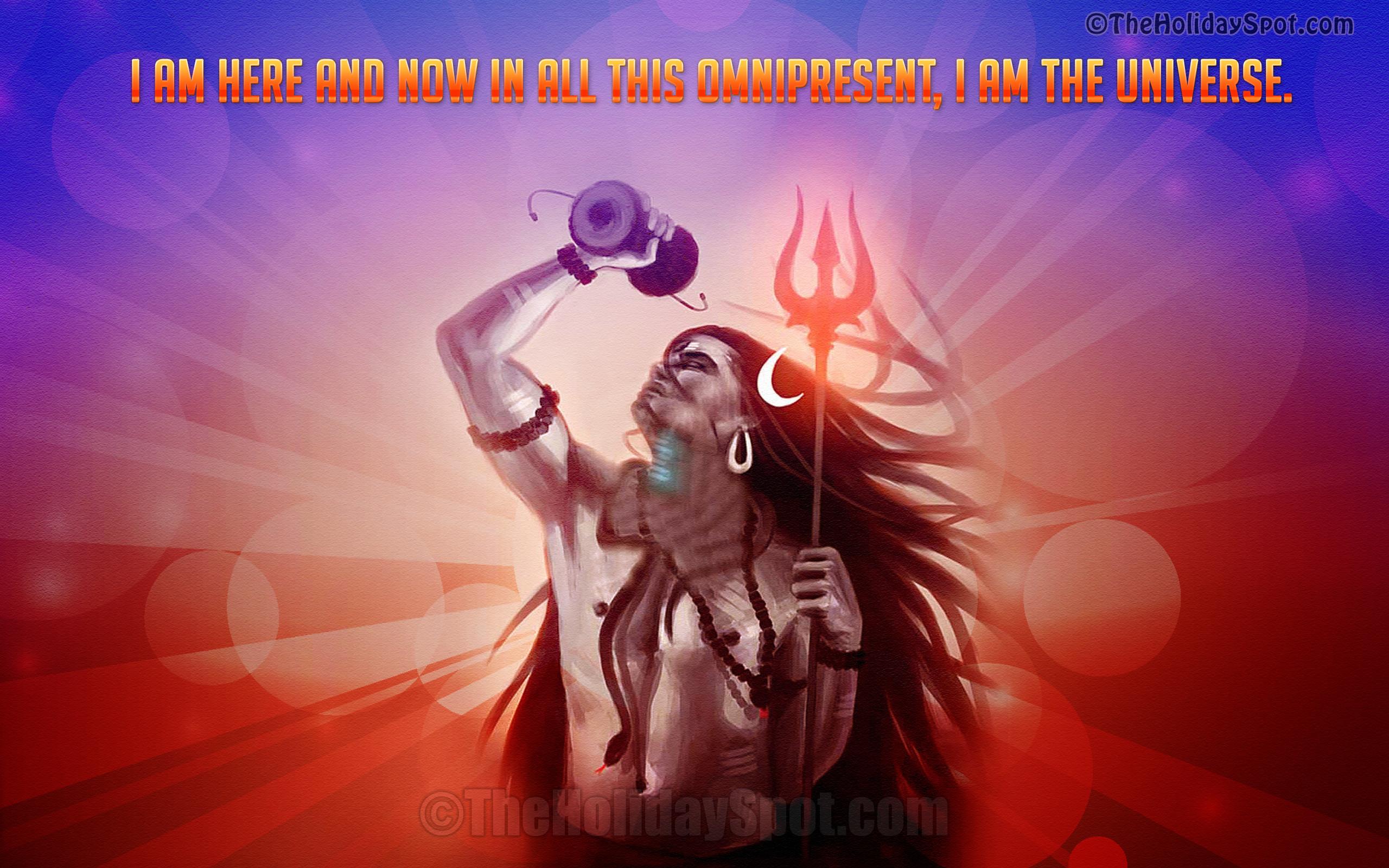 Wallpaper – Lord Shiva, The Universe